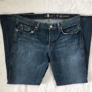 """7 For All Mankind """"A"""" Pocket Relaxed Jeans"""
